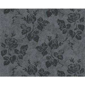 A.S. Creation Romantic Cottage Wallpaper Roll - 21-in - Grey