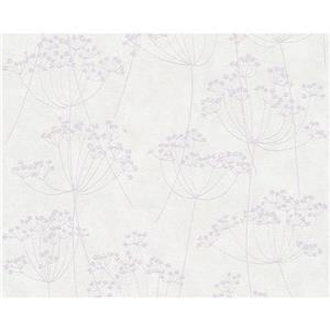 A.S. Creation Romantic Cottage Wallpaper Roll - 21-in - White/ Violet