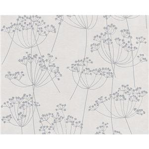 A.S. Creation Romantic Cottage Wallpaper Roll - 21-in - Brown/Grey