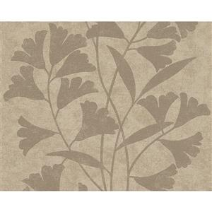 A.S. Creation Romantic Floral Wallpaper Roll - 21-in - Beige