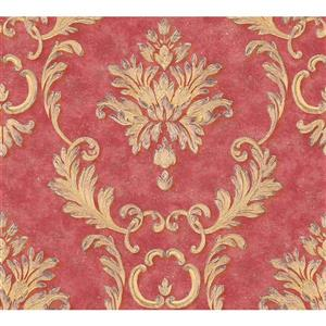 A.S. Creation High Quality Damask Wallpaper Roll - 21-in - Red