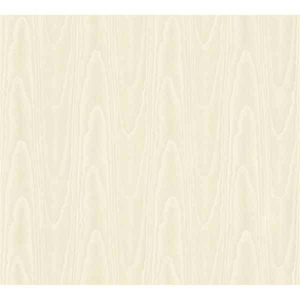 A.S. Creation Ensemble Wood Wallpaper Roll - 21-in - Cream