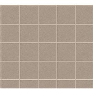 A.S. Creation AP Luxury Wallpaper Roll - 21-in - Tile Pattern - Beige/Brown