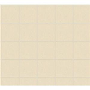 A.S. Creation AP Luxury Wallpaper Roll - 21-in - Tile Pattern - Cream/Off-White