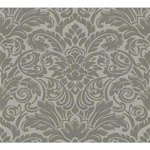 A.S. Creation High Quality Damask Wallpaper Roll - 21-in - Grey