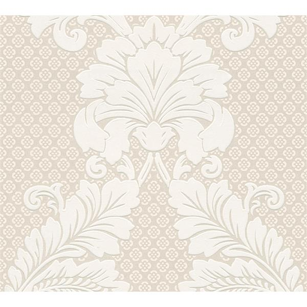 A.S. Creation Quality Ensemble Wallpaper Roll - 21-in - White/Beige