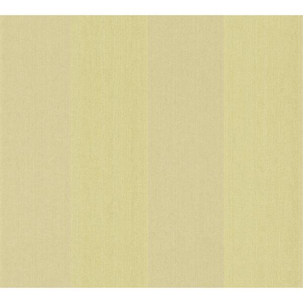 A.S. Creation Haute Couture 3 Collection Wallpaper Roll - 21 -in - Light Green Stripes