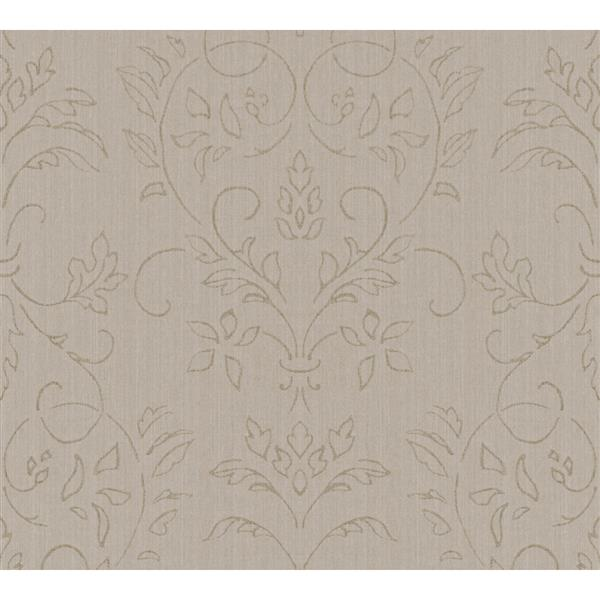 A.S. Creation Haute Couture 3 Collection Wallpaper Roll - 21 -in - Baroque Design - Light Brown