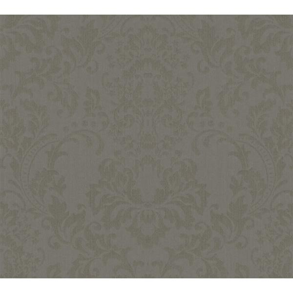 A.S. Creation Haute Couture 3 Collection Wallpaper Roll - 21 -in - Baroque Design - Grey