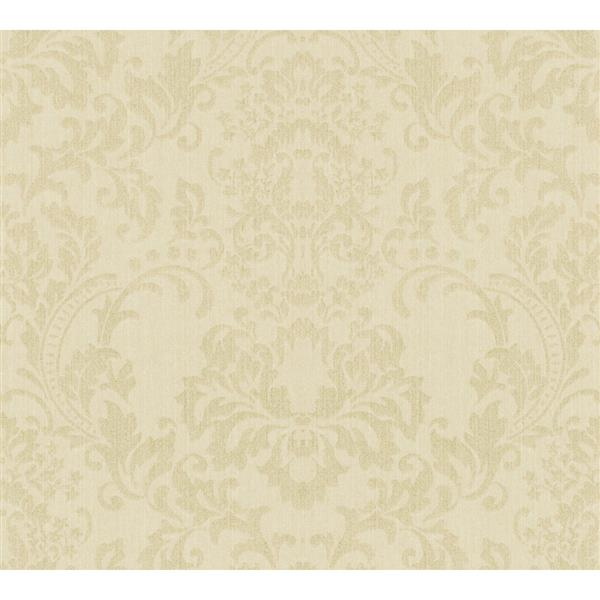 A.S. Creation Haute Couture 3 Collection Wallpaper Roll - 21 -in - Baroque Design - Light Green/Beige