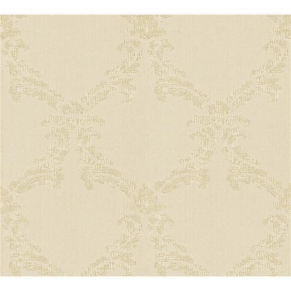 A.S. Creation Haute Couture 3 Collection Wallpaper Roll - 21 -in - Baroque Design - Cream/Beige