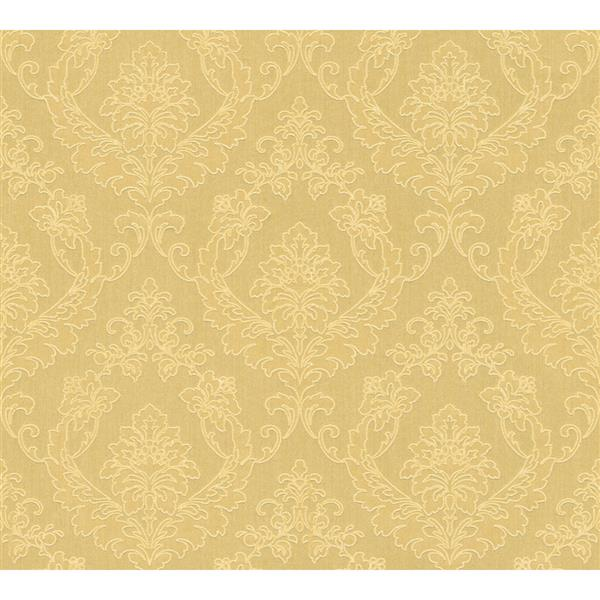 A.S. Creation Haute Couture 2 Collection Wallpaper Roll - 21 -in - Baroque Design - Yellow