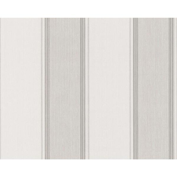 A.S. Creation Haute Couture 2 Collection Wallpaper Roll - 21 -in - Damask Pattern - Light Beige Stripes