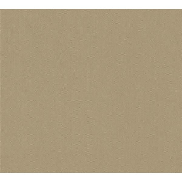 A.S. Creation Felicia Collection Wallpaper Roll - 21-in - Plain Light Brown