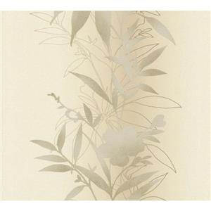 A.S. Creation Felicia Collection Wallpaper Roll - 21-in - Cream with Metallic effects