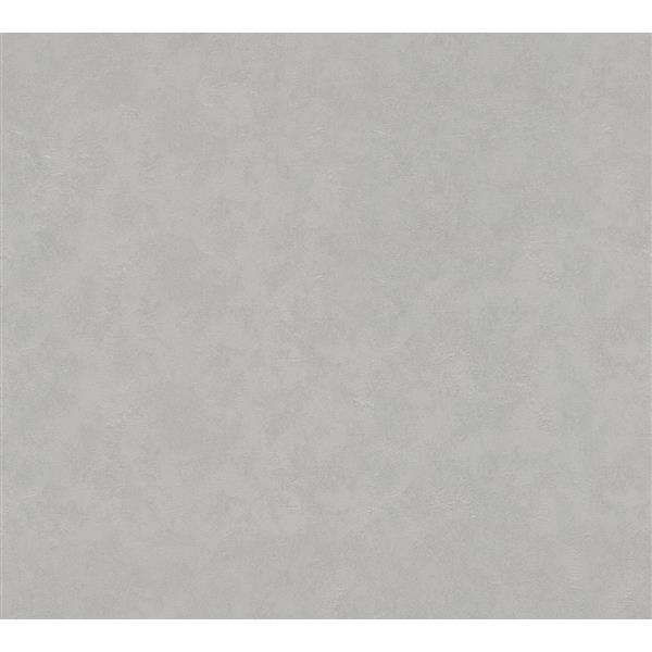 A.S. Creation Felicia Collection Wallpaper Roll - 21-in - Ciment Design - Light Grey