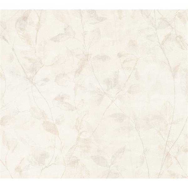 A.S. Creation Esprit 8 Wallpaper Roll - 21-in - Delicate Floral Pattern - Beige