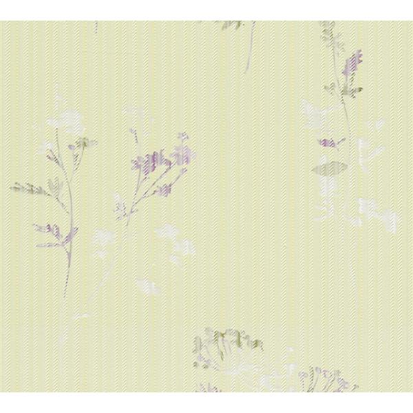 A.S. Creation Esprit 8 Wallpaper Roll - 21-in - Floral Pattern - Light Green and Purple