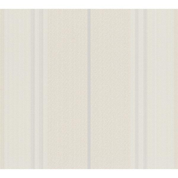 A.S. Creation Esprit 8 Wallpaper Roll - 21-in - Delicate Lined Pattern - Cream/Light Blue
