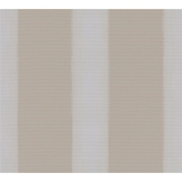 A.S. Creation Esprit 8 Wallpaper Roll - 21-in - Lined Pattern - Beige and White