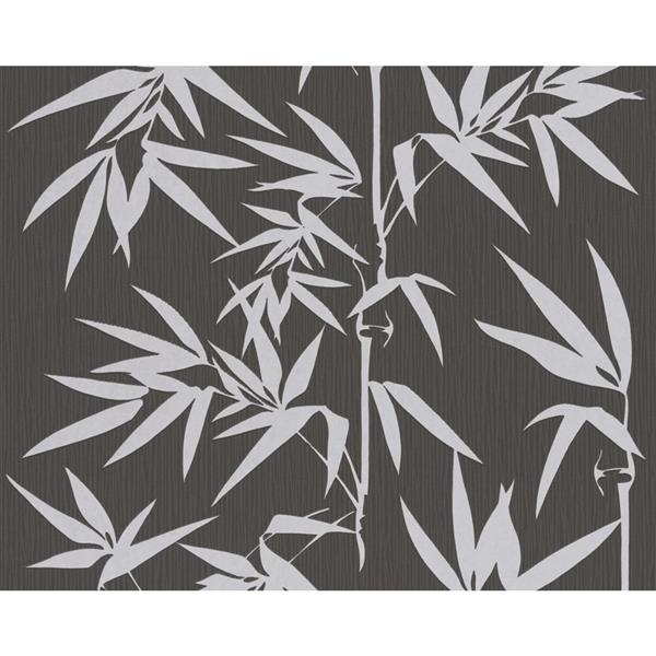 A.S. Creation Jette 2 Floral Wallpaper Roll - 21-in - Grey