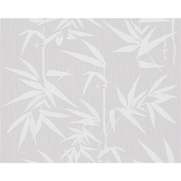 A.S. Creation Jette 2 Wallpaper Roll - 21-in - White/Gray