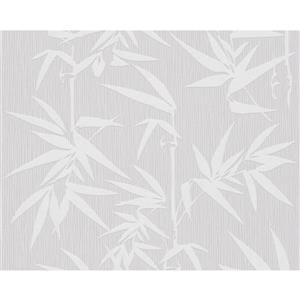 A.S. Creation Jette 2 Wallpaper Roll - 21 -in - White/Gray