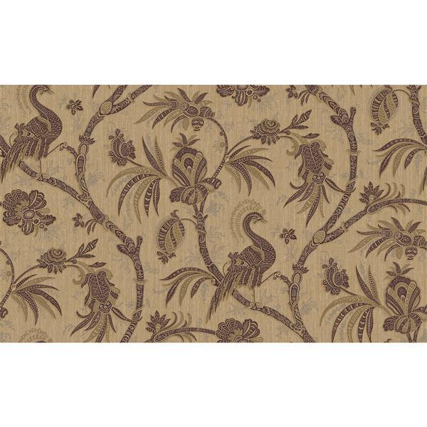design id Goodwood Wallpaper Roll - 21-in - Beige/Bordeaux
