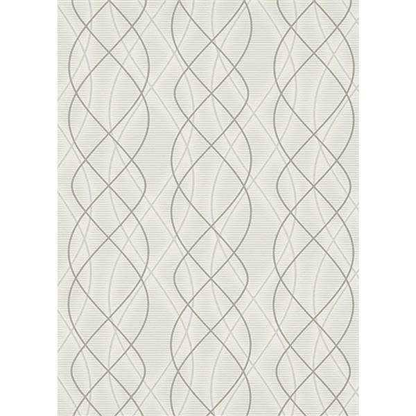 Erismann Glossy Wallpaper Roll - 21-in - Cream
