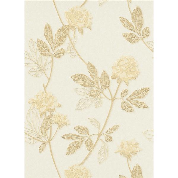 Erismann Eterna Wallpaper Roll - 21-in - Cream
