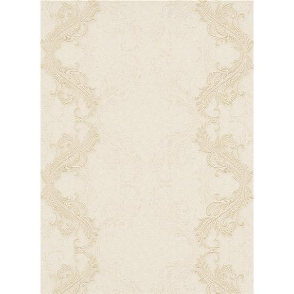 Erismann Eterna Wallpaper Roll - 21-in - Cream/Beige