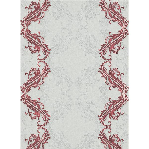Erismann Eterna Wallpaper Roll - 21-in - White