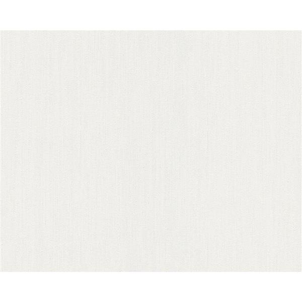A.S. Creation Elegance 2 Wallpaper Roll - 21-in - White/Light Grey