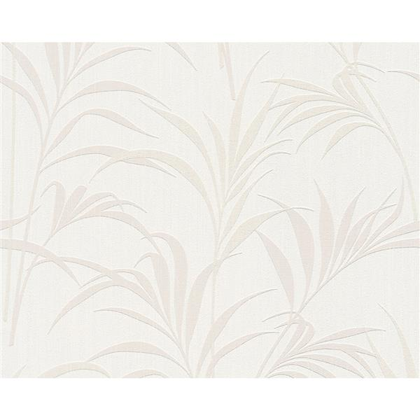 A.S. Creation Elegance 2 Wallpaper Roll - 21-in - Tropical Design - Off-White/Cream