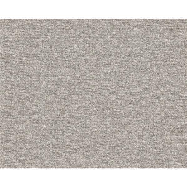 A.S. Creation Elegance 2 Wallpaper Roll - 21-in - Linen Design - Grey/Brown