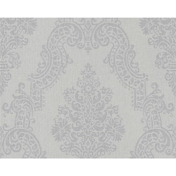 A.S. Creation Elegance 2 Wallpaper Roll - 21-in - Damask Pattern - Light Grey