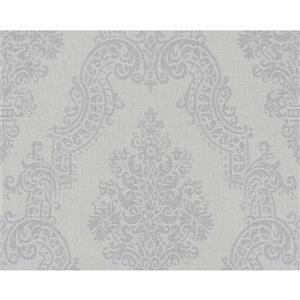 A.S. Creation Elegance 2 Wallpaper Roll - 21-in - Damask Pattern - Light Grey