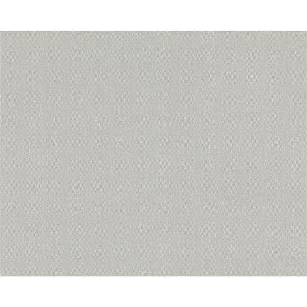 A.S. Creation Elegance 2 Wallpaper Roll - 21-in - Linen Design - Grey