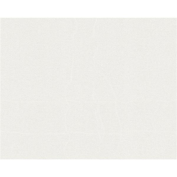 A.S. Creation Elegance 2 Wallpaper Roll - 21-in - Plain Pattern - White