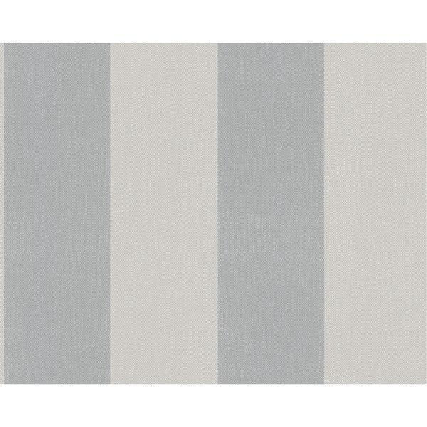 A.S. Creation Elegance 2 Wallpaper Roll - 21-in - Lined Pattern - Light Grey