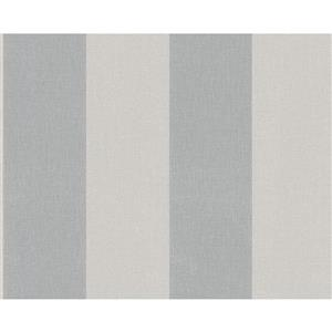 A.S. Creation Elegance 2 Wallpaper Roll - 21-in - Lined Pattern - Light Grey