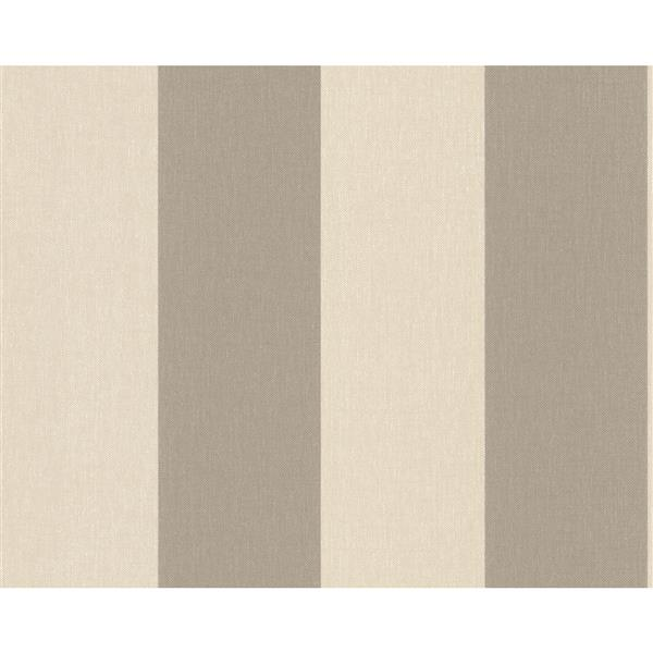 A.S. Creation Elegance 2 Wallpaper Roll - 21-in - Lined Pattern - Brown/Beige