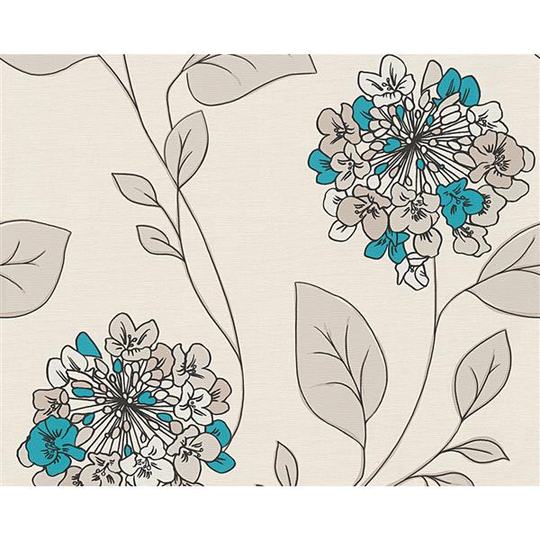 A.S. Creation Hollywood Floral Wallpaper Roll - 21-in - Cream