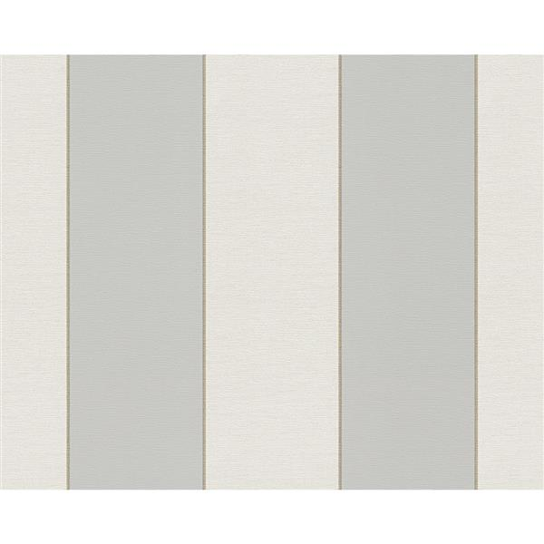 A.S. Creation Hollywood Striped Wallpaper Roll - 21-in - Cream