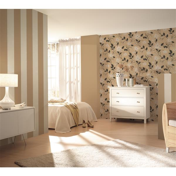 A.S. Creation Hollywood Floral Wallpaper Roll - 21-in - Beige