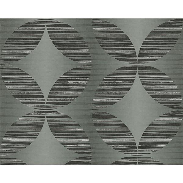 A.S. Creation Hollywood Geometric Wallpaper Roll - 21-in - Grey