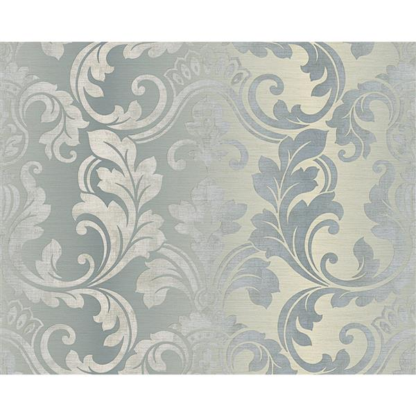 A.S. Creation Hollywood Damask Wallpaper Roll - 21-in - Grey