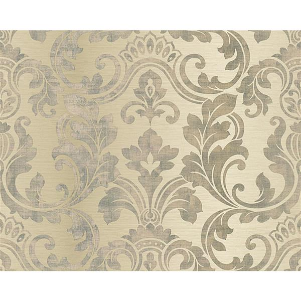 A.S. Creation Hollywood Damask Wallpaper Roll - 21-in - Beige