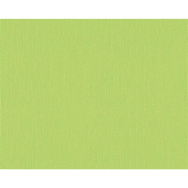 A.S. Creation Flock 4 Collection Wallpaper Roll - 21-in - Plain Pattern - Green