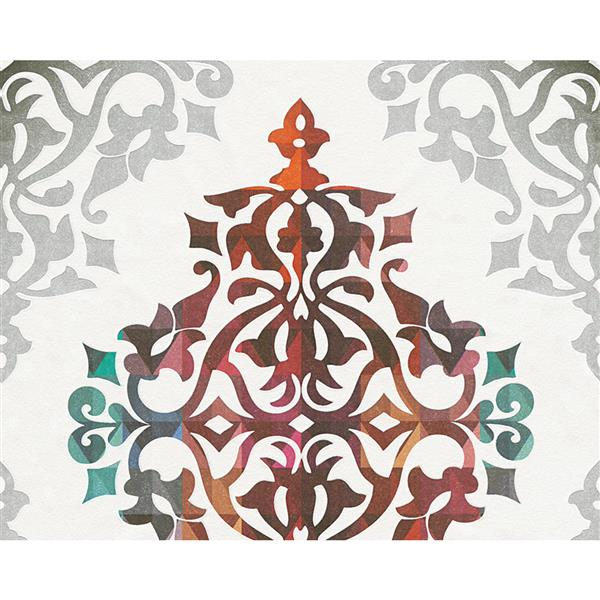 A.S. Creation Flock 4 Collection Wallpaper Roll - 21-in - Modern Damask Pattern - Multiple Color